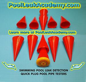 Swimming Pool Leak Detection 6 Dye Testing Cones Quick