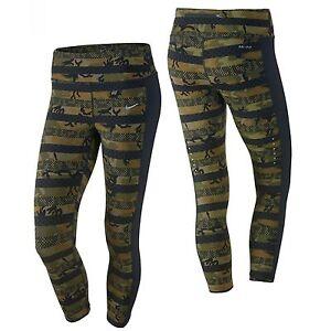 Nike Clash Epic Lux 686036-356 Militia Green Black Women s Dri-Fit ... 73bb7d78b5fd