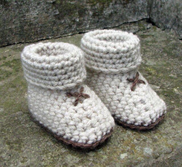 Crochet Pattern For Baby Slipper Socks Booties 5 Sizes 3 Styles