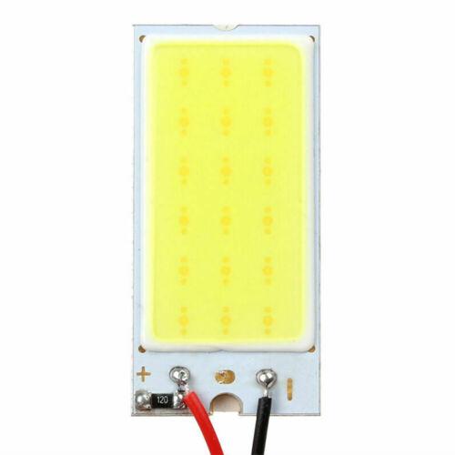 T10 Festoon Adapters Kit 5pcs White COB Led Panel Dome Light Interior Lamp 12V