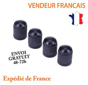 4-Bouchons-capuchons-de-Valve-Pneumatique-Voiture-Moto-Velo-pneu-roue-auto-noir