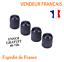 4-Bouchons-capuchons-de-Valve-Pneumatique-Voiture-Moto-Velo-pneu-roue-auto-noir miniature 1