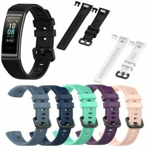 Sport-Silikon-Ersatz-Armband-Uhrenarmband-Strap-fuer-Huawei-Band-3-3-Pro-Watch