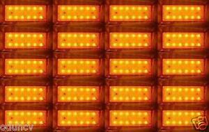 20x-24V-SMD-12-LED-AMBRA-Anteriore-Lato-LUCI-DI-INGOMBRO-RIMORCHIO-CAMION