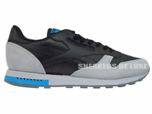 Image is loading REEBOK-BD4414-CLASSIC-LEATHER-GN-BLACK-CLOUD-GREY 02a192d6f