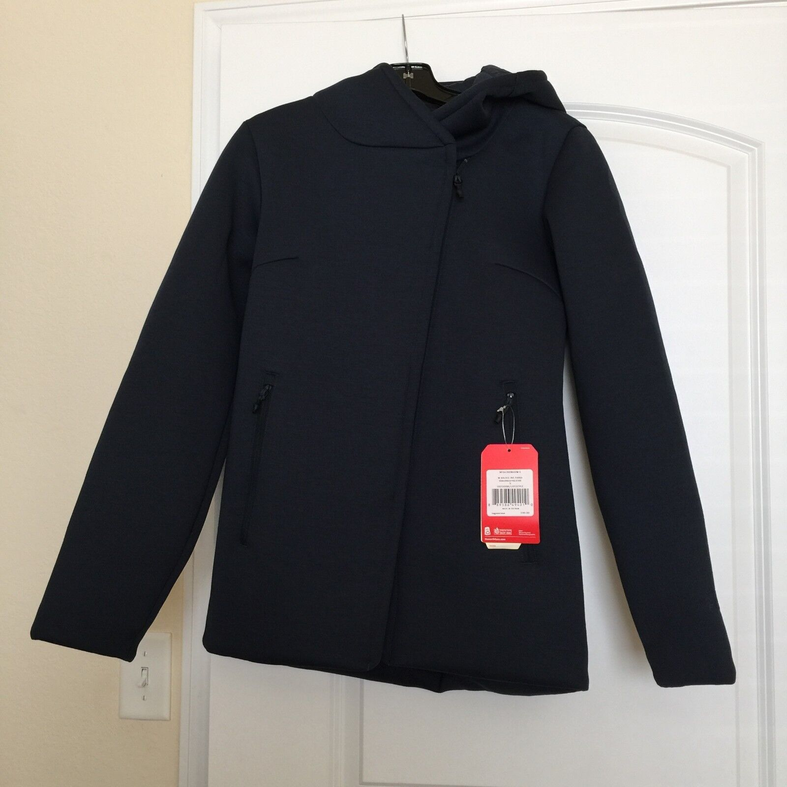 New Authentic Navy bluee THE NORTH FACE Haldee Insulated Parka Hood Coat S  199