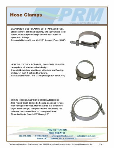 1.14-1.22 IN NEW 29-31 MM HEAVY DUTY 304 STAINLESS STEEL T-BOLT HOSE CLAMP NIB