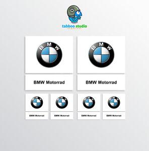 6-Stickers-Adesivi-BMW-Motorrad-logo-1200-1250-GS-casco-vinile-moto-pegatinas