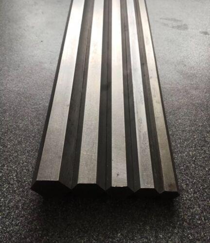 """EN1A Steel hexagonal bar 300mm 600mm 1//4/""""-1/"""" 445/""""-.820/"""" 1200mm BSW + AF"""