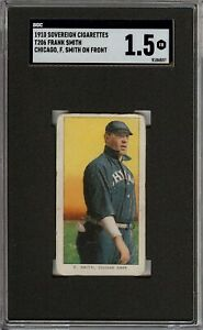 Rare 1909-11 T206 Frank Smith F. Smith Sovereign 350 Chicago SGC 1.5