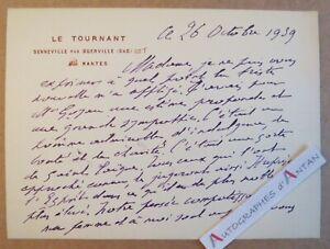Maurice-DONNAY-1939-Le-Tournant-Senneville-par-Guerville-Mantes-Georges-GOYAU