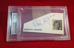 Dorothy McGuire Signed Cut Slabbed PSA/DNA #83108022