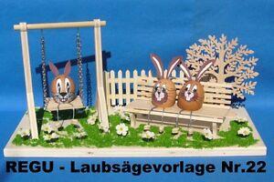 Regu Laubsägevorlagen Nr 22 Ostern Eier Schaukel Zum