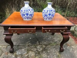 Large-Antique-19th-Century-Regency-Style-Rosewood-Writing-Table-Partners-Desk