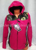 Womens Pink Camo Waterproof Hoodie Softshell Jacket Coatsmlxl