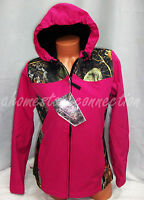 Womens Pink Camo Waterproof Hoodie Softshell Jacket Coatsmlxl