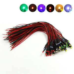60pcs-Pre-wired-1-8mm-Led-with-Lead-Lamp-Light-Set-12V-18V-Mixed-color-L1218