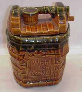 VINTAGE-McCOY-WISHING-WELL-COOKIE-JAR