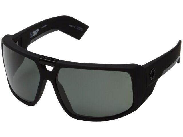 b3a2e5d9df Spy Touring Sunglasses - Soft Matte Black - Happy Grey Green Polar - New