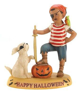 Cloudworks Pirate Boy w/ Dog MATEYS FOREVER Statue Figurine Halloween Decoration