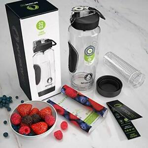 3cb19e5185 Infusion Pro 32 oz. Fruit Water Bottle Infuser with Insulated Sleeve ...