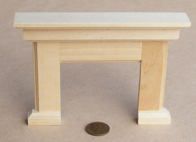 1:12 Scale Natural Finish Wooden Fire Place Surround Dolls House Fireplace