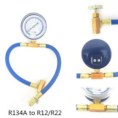 R134A zu R12 Adapter Auto Klimagas Kältemittel Füllschlauch Druckmanometer