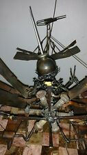 Large Vintage Airplane Biplane  Steampunk  Metal Sculpture, Aviation Art