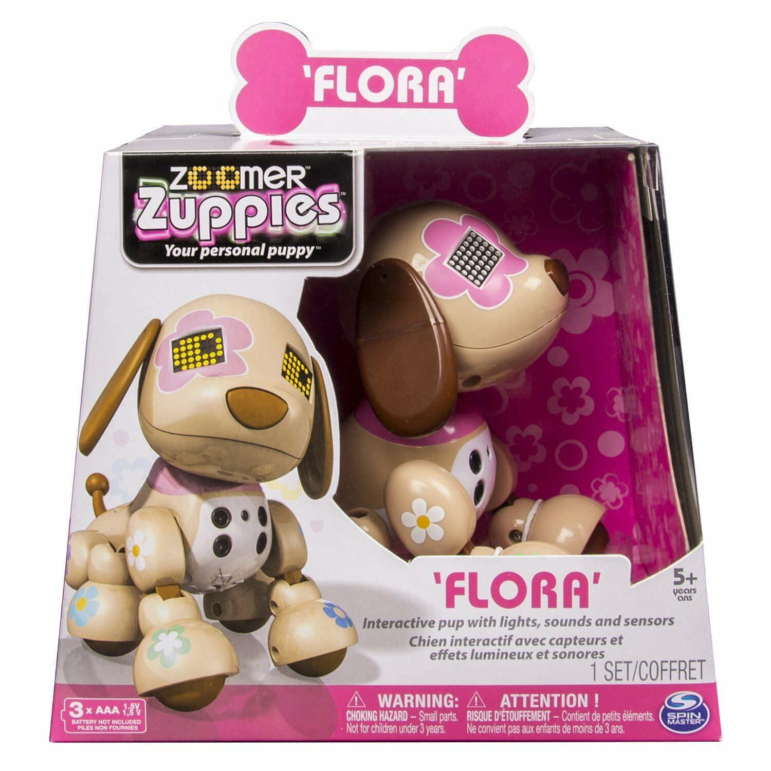 Zoomer Zuppies Flora 6022352ass 20068991 originale SPINMASTER nuovo Italia
