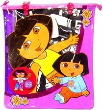 Dora The Explorer Jumbo Velvet Paper Dolls you Color in Zippered Vinyl Bag