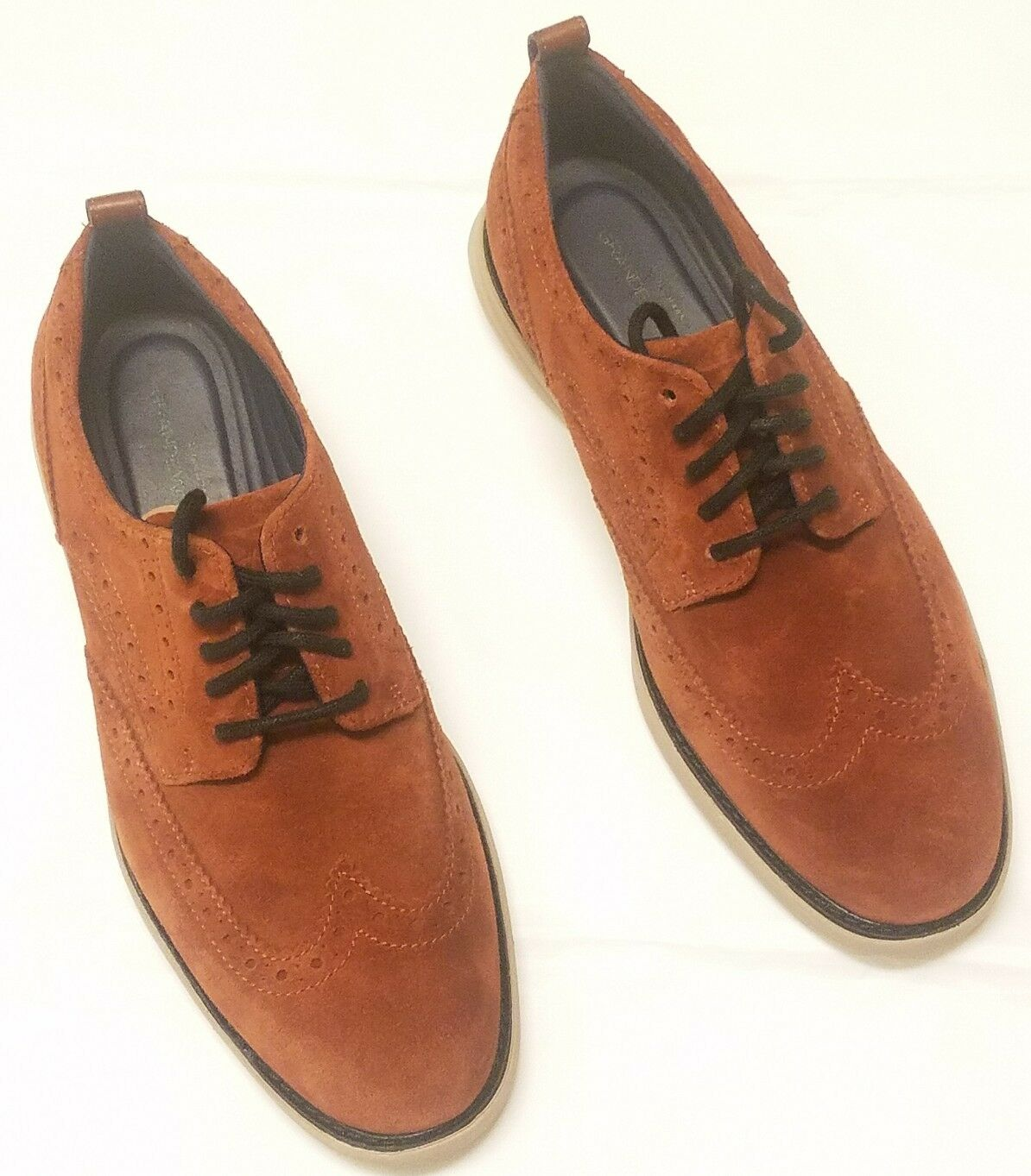 COLE HAAN Grand Evolution Brown Suede Wingtip 8 Oxford Shoes (C26314) Size 8 Wingtip US 746540