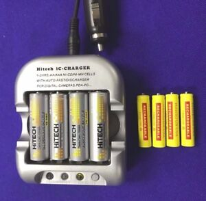 Car-12v-1-Smart-Charger-8-of-4AA-amp-4AAA-Hitech-USA-Rechargeable-batteries-60-OFF