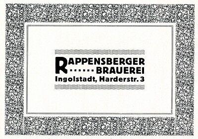 Obligatorisch Rappensberger Brauerei Ingolstadt Reklame 1921 Bier Werbung