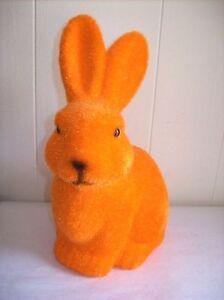 9-034-Flocked-Bunny-Figure-Orange-SO-CUTE