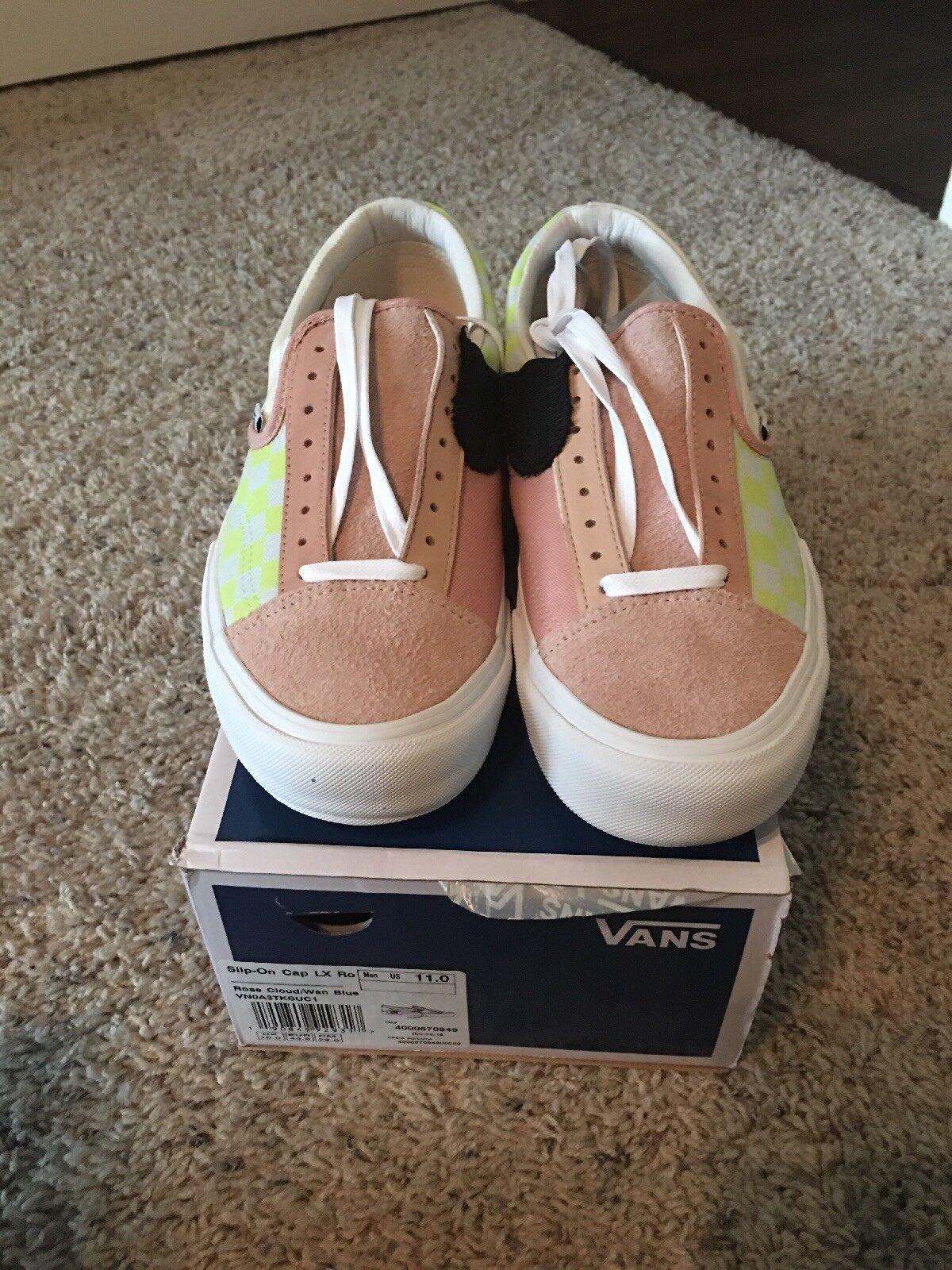 Vans Vault Cut And Paste CAP LX Slip-On Rose Cloud US 11 NEW deconstructed pink