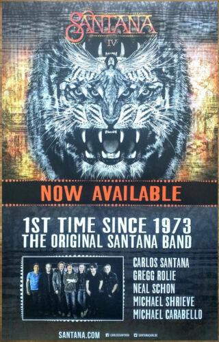 SANTANA IV Ltd Ed Discontinued New RARE Poster Display FREE Rock Poster Carlos
