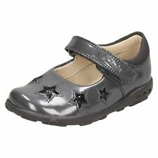 037a1150276 Girls Clarks Ella Glow FST Light up First Shoes Anthracite (grey) UK ...