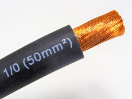 250/' EXCELENE 1//0 AWG WELDING//BATTERY CABLE BLACK 600V MADE IN USA EPDM COPPER