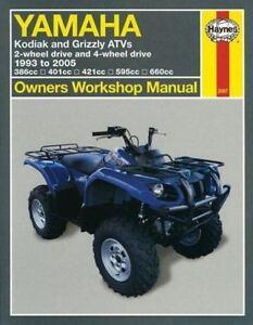 1993 2000 2001 2002 2003 2004 2005 yamaha kodiak grizzly atv repair rh ebay com 2000 yamaha kodiak 400 ultramatic service manual 2004 Yamaha Kodiak