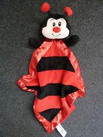 Sainsburys TU Larry Ladybird Comforter Blankie Snuggle Toy Red/Black.