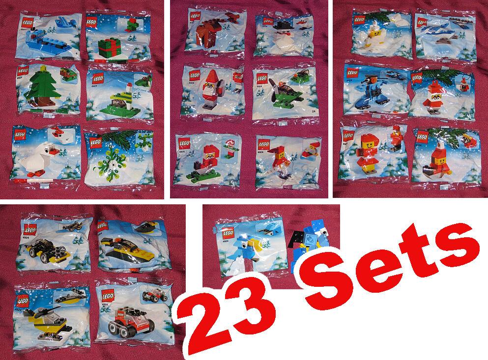 23x Lego 4924 WEIHNACHTS-SETS, SEHR SELTENE LEGO WEIHNACHTS Sets