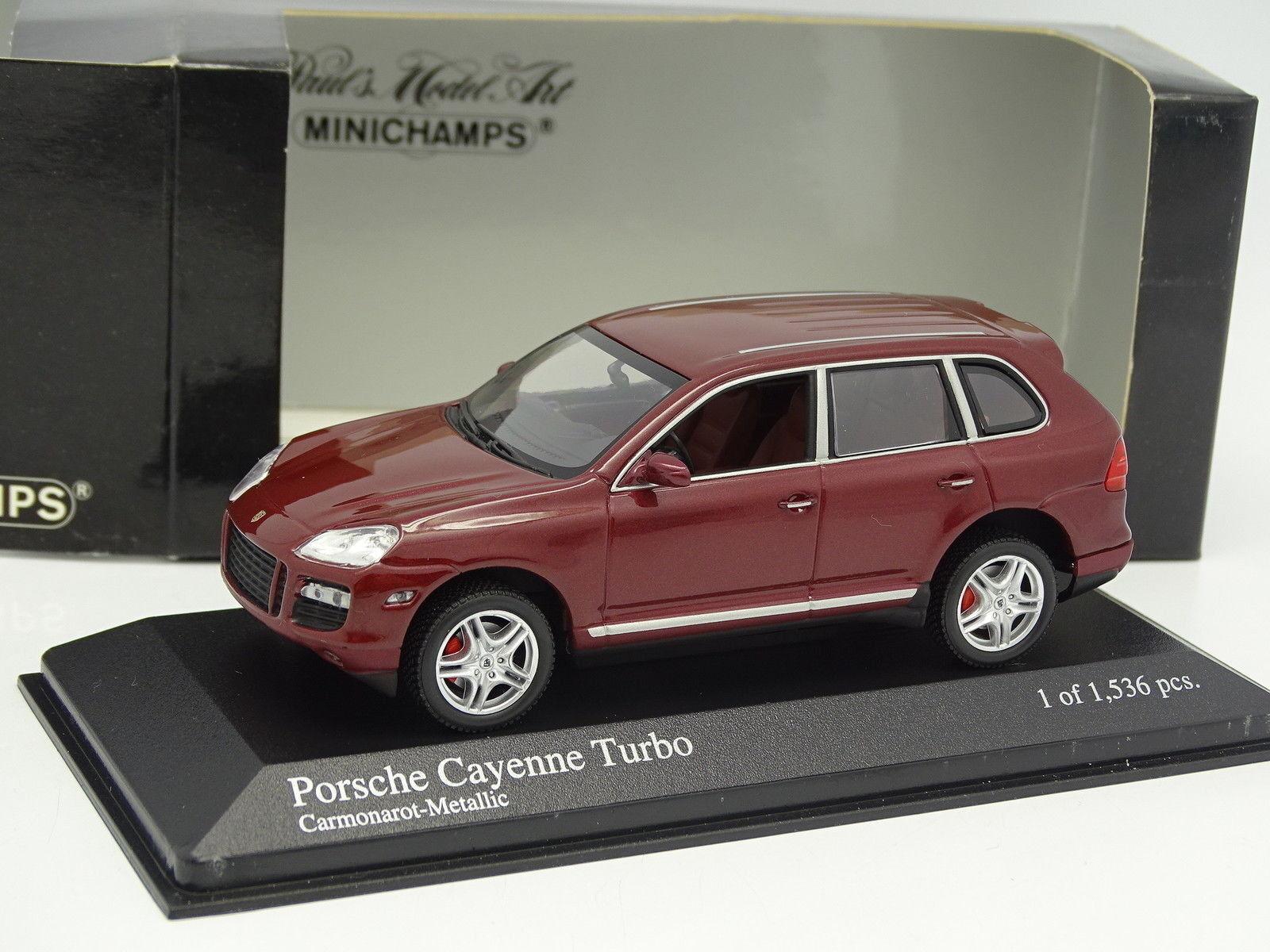 Minichamps 1 43 - porsche cayenne turbo red