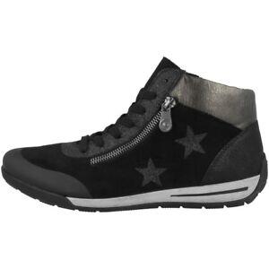 Boots Rieker Damen Schuhe 01 M3033 Mid Sneaker Cut glitterfoil microstretch Foil rgZxq8r