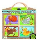 Green Start Playful Pals Wood Puzzle by Kids Innovative 9781601691477 2011