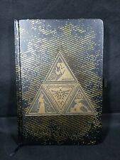 Legend Of Zelda Metal Triforce Hardcover Writing Journal Notebook Official Black