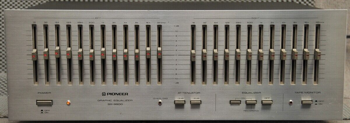 Pioneer SG-9800 classic graphic equalizer Universal Voltage looks & works GREAT. Buy it now for 650.31