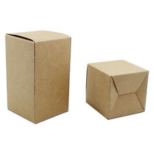 Brown Kraft Paper Foldable Box Gift Craft Jewelry Soap Candy Packaging Cardboard