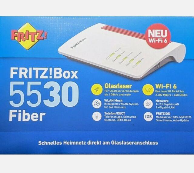 AVM FRITZ!Box 5530 Fiber WLAN Router 2.4GHz, 5GHz
