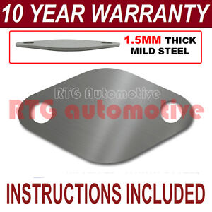 AUDI A2 A3 A4 A6 1.6 TDI DIESEL EGR VALVE BLANKING PLATE 1.5MM THICK STEEL ND