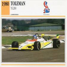 1980 TOLEMAN TG280 Racing Classic Car Photo/Info Maxi Card